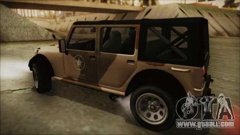 GTA 5 Canis Crusader for GTA San Andreas back left view
