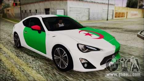 Toyota GT86 (ZN6) 2012 HD Algeria PJ for GTA San Andreas bottom view