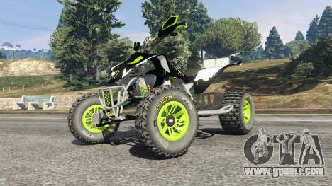 GTA 5 Yamaha YZF 450 ATV Monster Energy right side view