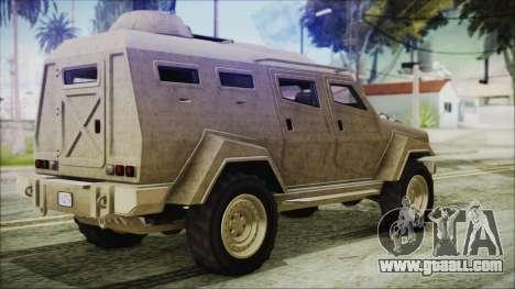 GTA 5 HVY Insurgent Van for GTA San Andreas left view