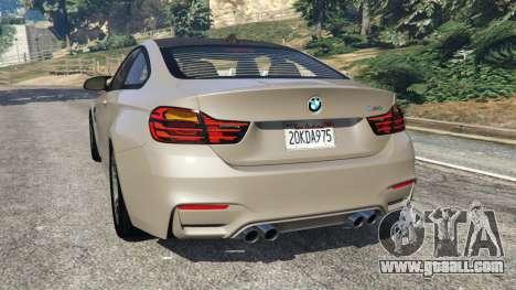GTA 5 BMW M4 2015 v1.1 rear left side view