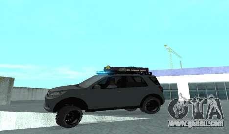Toyota Terios 2009 OFF-ROAD MUD-TERRAIN for GTA San Andreas upper view