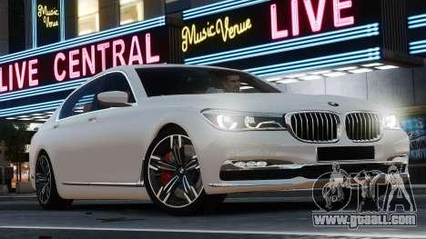 BMW 7-er 2016 for GTA 4 left view