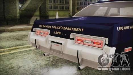 Dodge Monaco 1974 LSPD General Duties Unit for GTA San Andreas right view