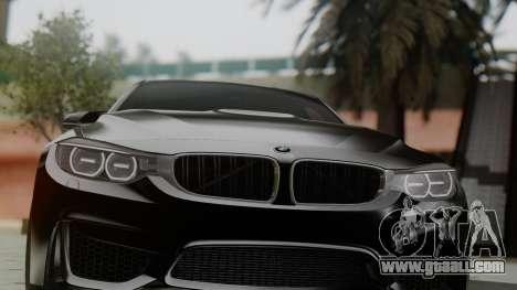 BMW M3 F30 SEDAN for GTA San Andreas back view