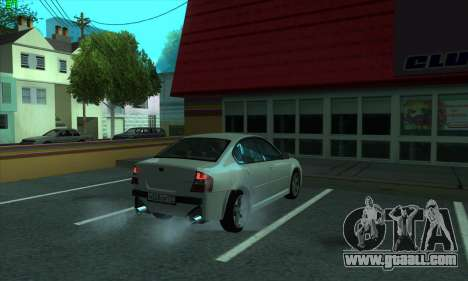 Subaru Legacy for GTA San Andreas back view