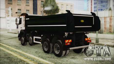 Volvo FMX Euro 6 Snow for GTA San Andreas left view