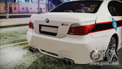 BMW M5 E60 Bosnian Police for GTA San Andreas back view