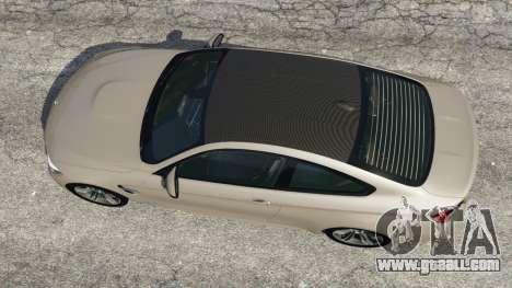 GTA 5 BMW M4 2015 v1.1 back view