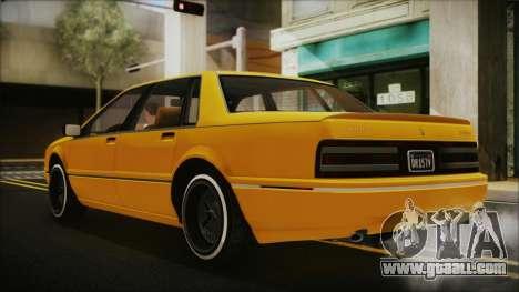 GTA 5 Albany Primo Custom Bobble Version for GTA San Andreas