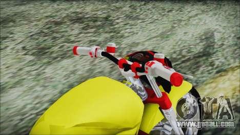 Yamaha Tuning Full Cromo for GTA San Andreas back view