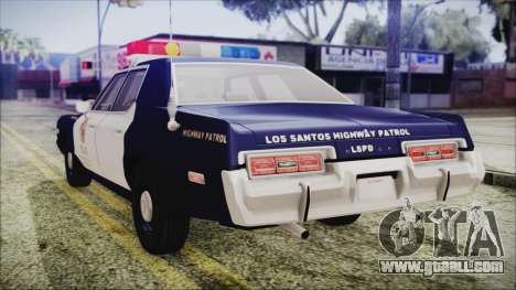 Dodge Monaco 1974 LSPD Highway Patrol Version for GTA San Andreas left view