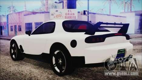 Mazda RX-7 Enhanced Version for GTA San Andreas left view