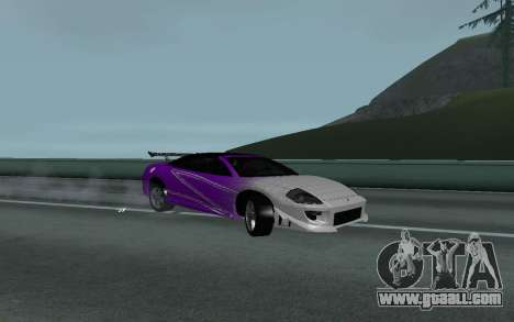 Mitsubishi Eclipse GTS Tunable for GTA San Andreas right view