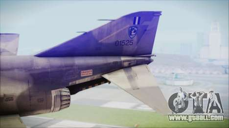 McDonnell Douglas F-4N Hellenic Air Force for GTA San Andreas back left view