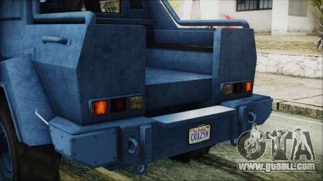 GTA 5 HVY Insurgent Pick-Up IVF for GTA San Andreas upper view