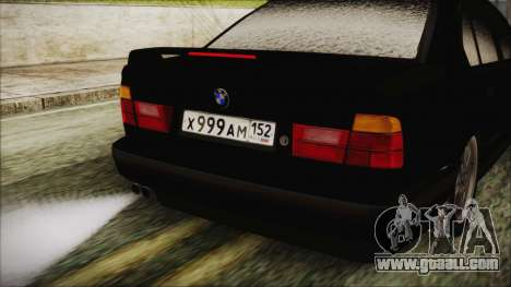 BMW 535i E34 for GTA San Andreas back view