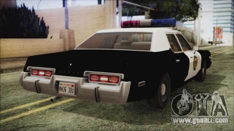 Dodge Monaco 1974 LVPD IVF for GTA San Andreas left view