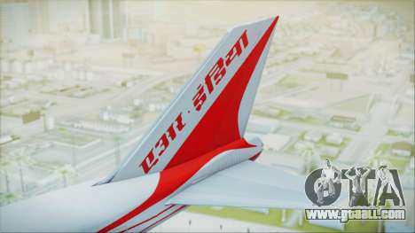 Boeing 747-237Bs Air India Samudragupta for GTA San Andreas back left view