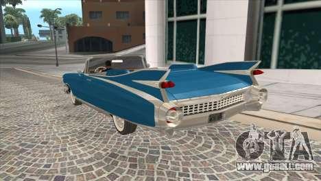 Cadillac Eldorado Biarritz 1959 for GTA San Andreas left view