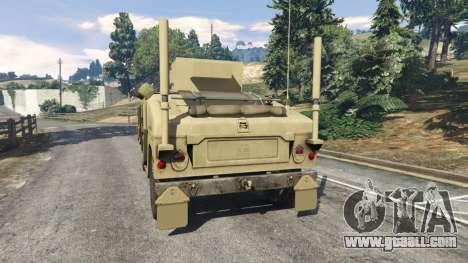 GTA 5 HMMWV M-1116 [desert] rear left side view