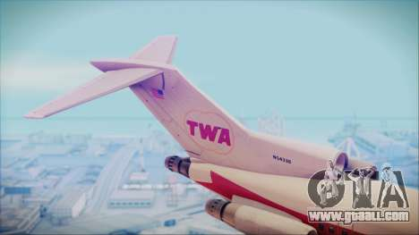 Boeing 727-200 Trans World Airlines for GTA San Andreas back left view