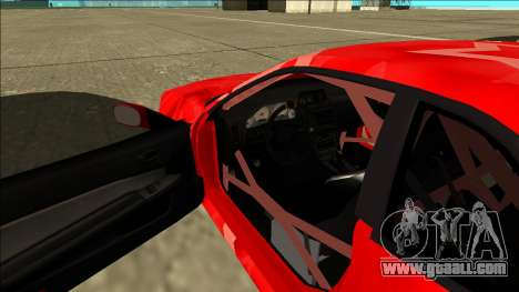 Nissan Skyline R34 Drift Red Star for GTA San Andreas inner view