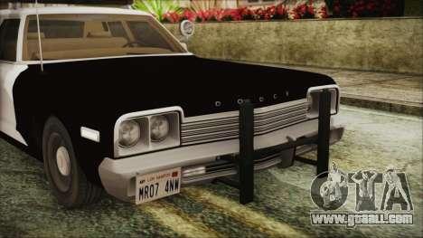 Dodge Monaco 1974 SFPD IVF for GTA San Andreas inner view