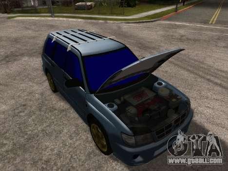 Subaru Forester 1998 for GTA San Andreas engine