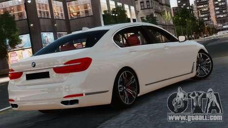 BMW 7-er 2016 for GTA 4 back left view