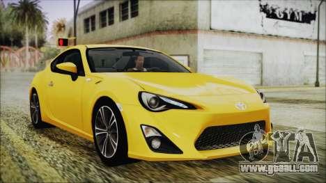 Toyota GT86 (ZN6) 2012 HD Algeria PJ for GTA San Andreas
