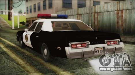 Dodge Monaco 1974 LVPD for GTA San Andreas left view