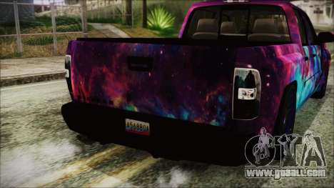 GMC Sierra Galaxy for GTA San Andreas back view