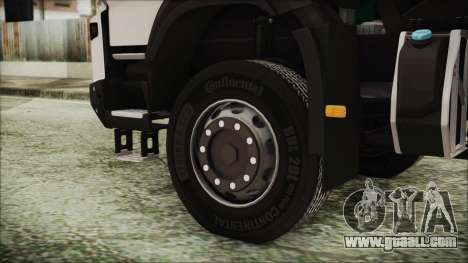 Volvo FMX Euro 6 Snow for GTA San Andreas back left view