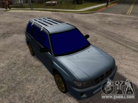 Subaru Forester 1998 for GTA San Andreas interior