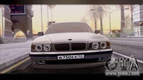 BMW 7-er E38 for GTA San Andreas back left view