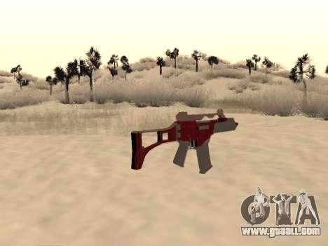 Christmas G36c camo for GTA San Andreas second screenshot