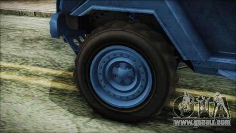 GTA 5 HVY Insurgent Pick-Up IVF for GTA San Andreas back left view