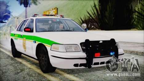 Ford Crown Victoria Miami Dade v2.0 for GTA San Andreas