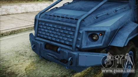 GTA 5 HVY Insurgent Pick-Up IVF for GTA San Andreas inner view