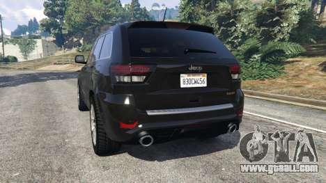 GTA 5 Jeep Grand Cherokee SRT8 2013 rear left side view