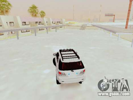 Toyota Fortuner 4WD 2015 Rustica V2 for GTA San Andreas back left view