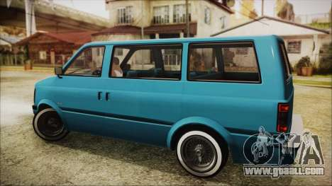 GTA 5 Declasse Moonbeam No Interior for GTA San Andreas left view