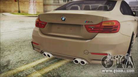 BMW M4 Coupe for GTA San Andreas back view