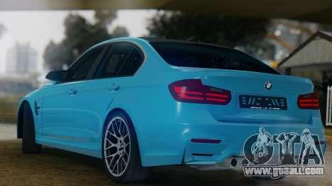 BMW M3 F30 SEDAN for GTA San Andreas right view