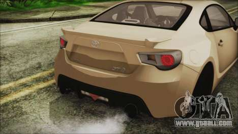 Toyota GT86 for GTA San Andreas back view