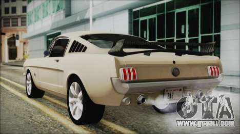 Ford Mustang Fastback 1966 Chrome Edition for GTA San Andreas left view
