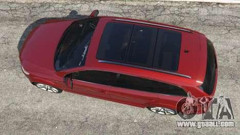 GTA 5 Audi Q7 2010 back view