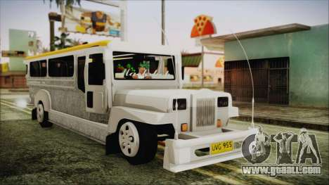 Markshop Jeepney for GTA San Andreas