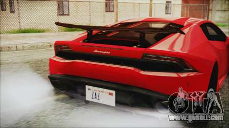 Lamborghini Huracan LP610-4 Novitec Torado 2015 for GTA San Andreas back view